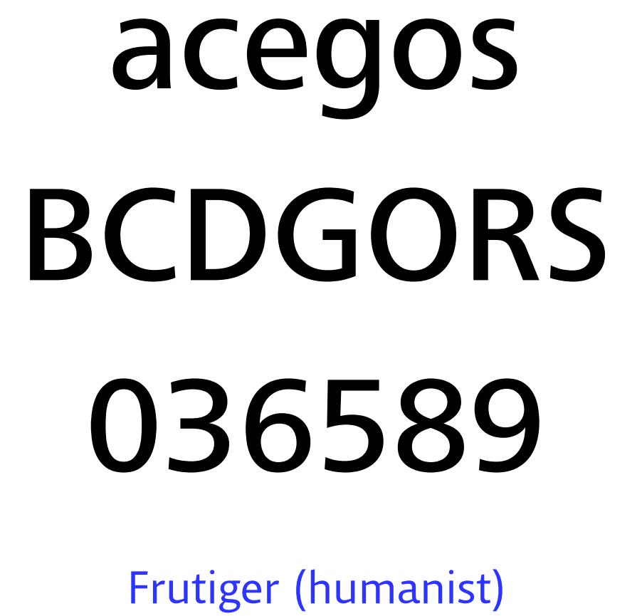 typeface frutiger