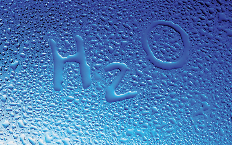 H2O Water droplets
