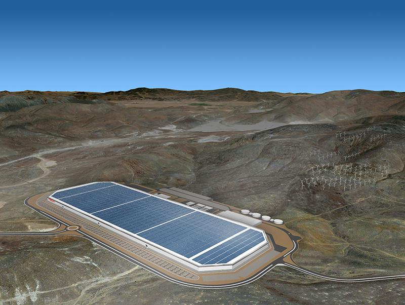 Tesla Gigafactory.