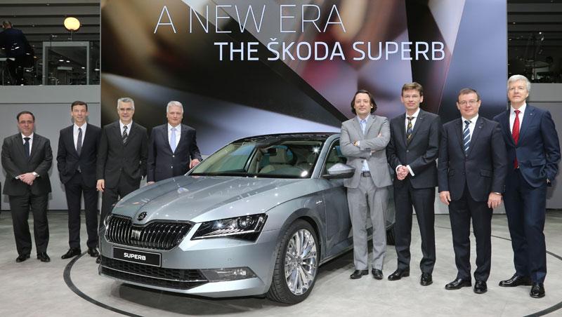 ŠKODA Board of Management at motor show world premiere of the new ŠKODA Superb