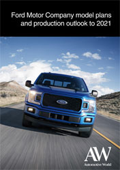 Ford Motor Company model plans and production outlook to 2021