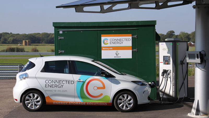 Connected Energy E-Stor and Renault ZOE