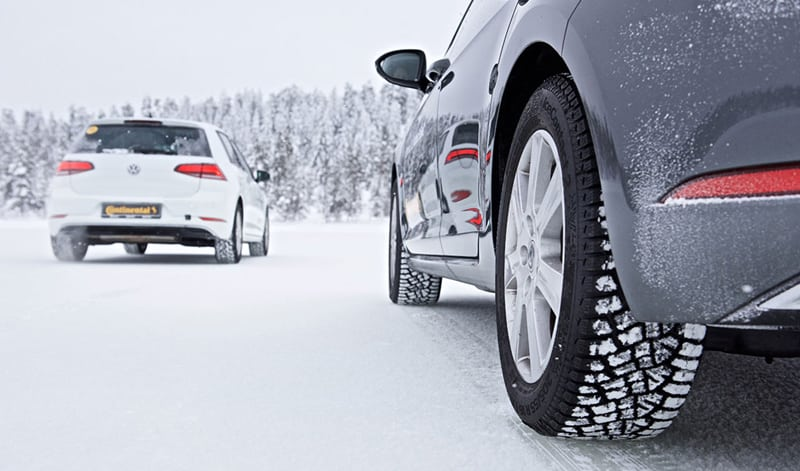 Continental winter tyre testing