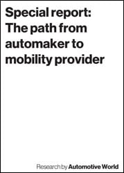 Special report: The path from automaker to mobility provider