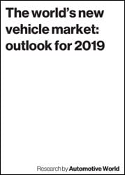 The world's new vehicle market: outlook for 2019