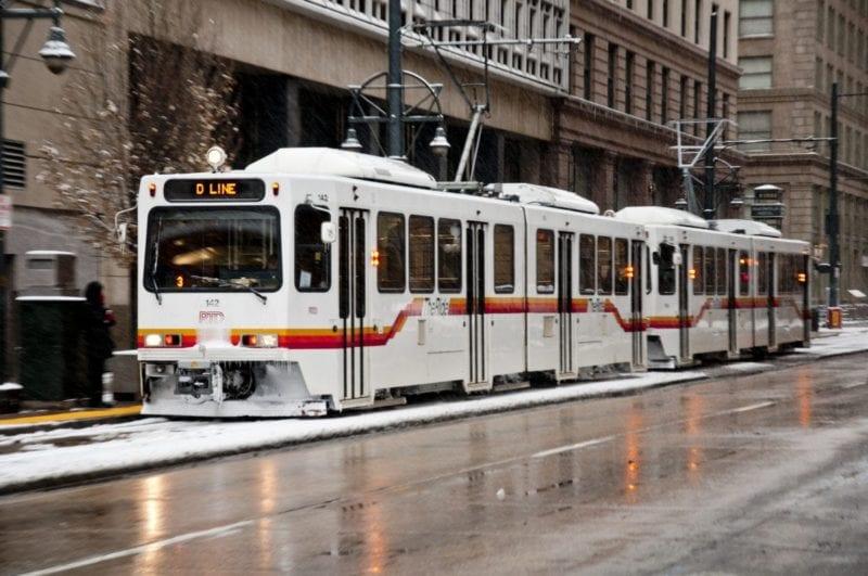 Denver LRV RTD public transport park and ride