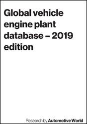 Global vehicle engine plant database – 2019 edition