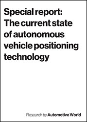 Special report: The current state of autonomous vehicle positioning technology