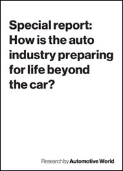 Special report: How is the auto industry preparing for life beyond the car?