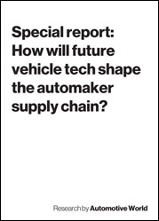 Special report: How will future vehicle tech shape the automaker supply chain?