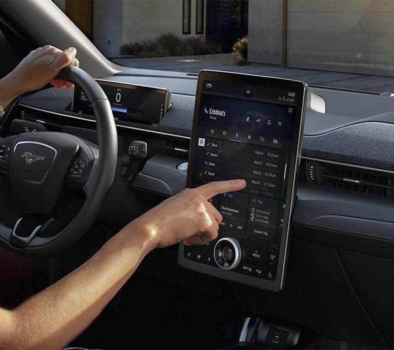 Ford Mach-e mustang infotainment