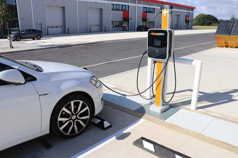 ChargePoint electric vehicle charging station