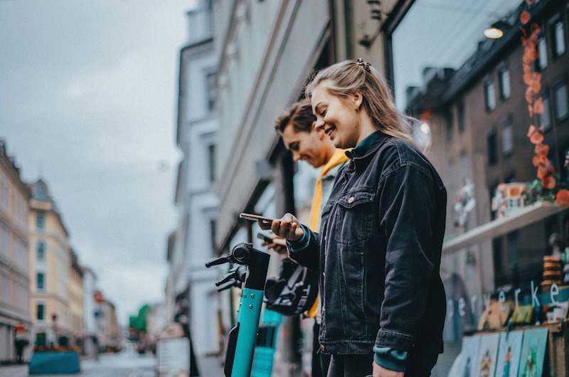 TIER electric scooters on Whim app Oslo 2020