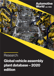Global Vehicle Assembly Plant Database – 2020 edition