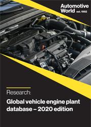Global vehicle engine plant database – 2020 edition
