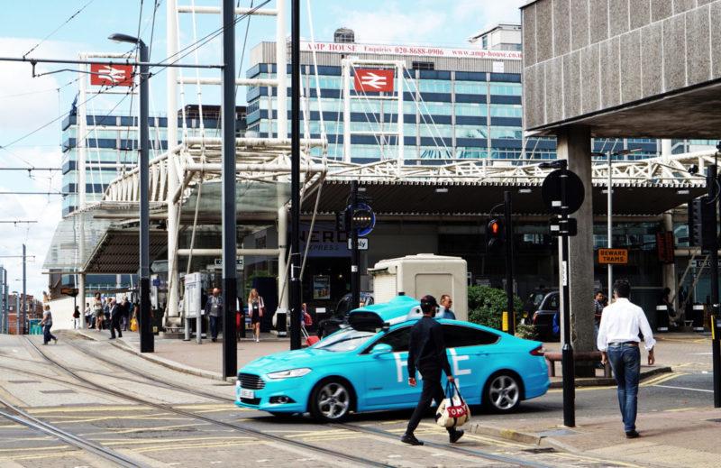 Five autonomous vehicle intersection
