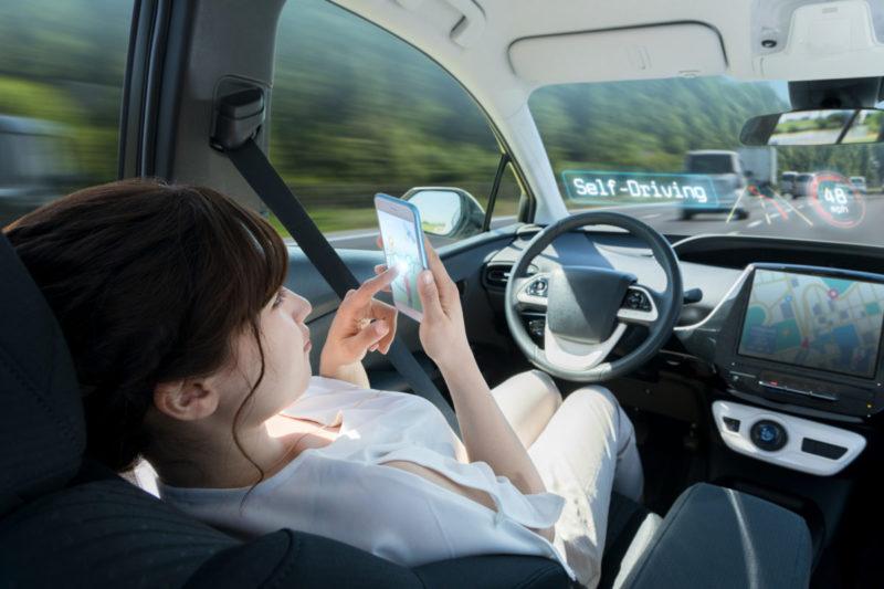 Autonomous car. self driving vehicle