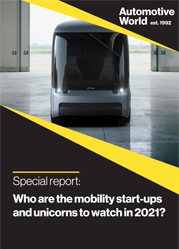 Special report: Who are the mobility start-ups and unicorns to watch in 2021?