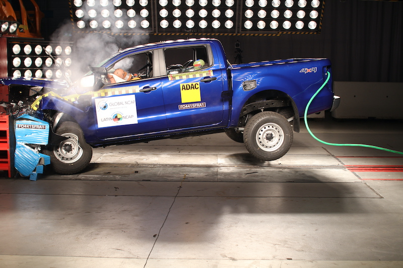 Ford Ranger crash test Latin NCAP