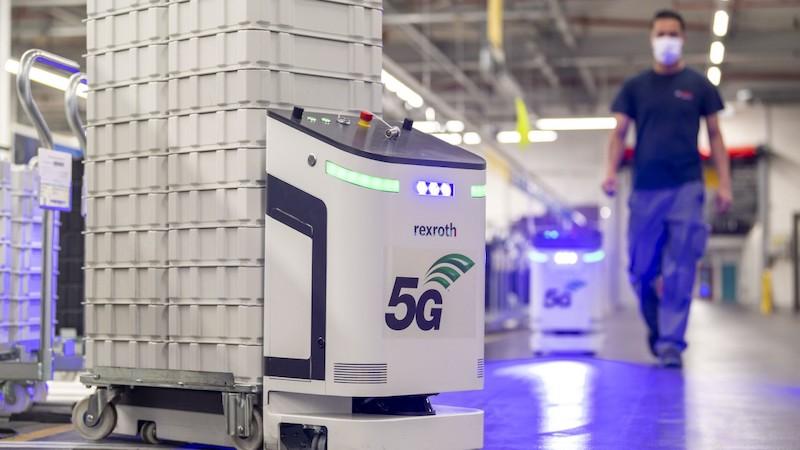 Bosch 5G factory AGVs