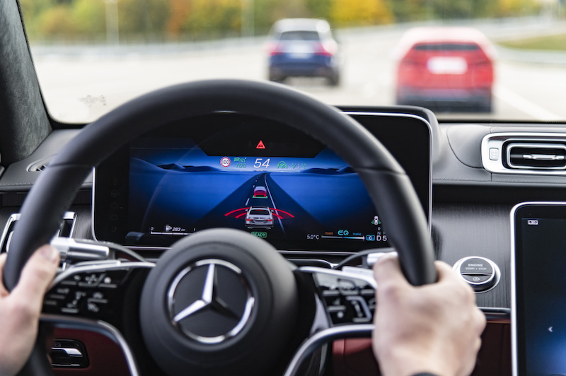 Mercedes-Benz S-Class active brake assist ADAS