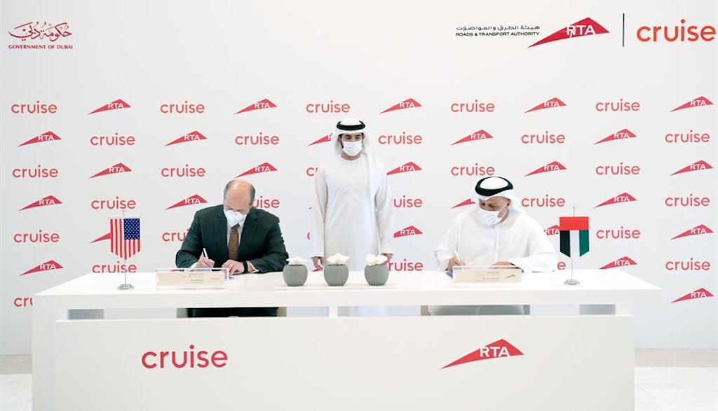 Cruise Dubai RTA robotaxi agreement