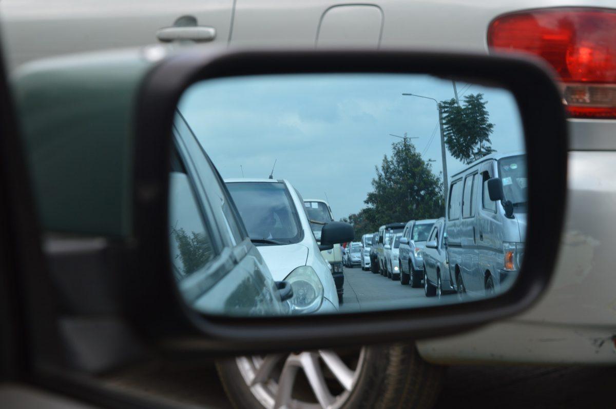 Traffic rear-view mirror
