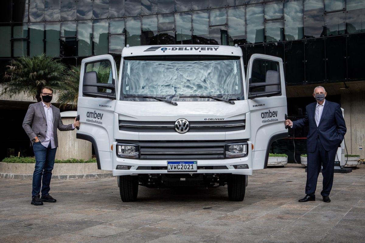 Volkswagen Caminhões e Ônibus delivers Ambev's first e-Delivery