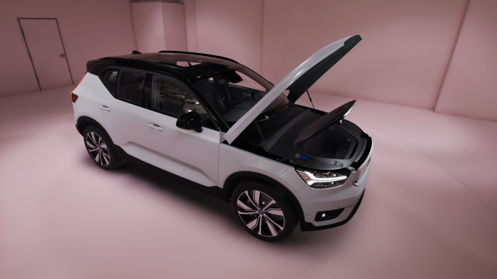 Unity template with Volvo model