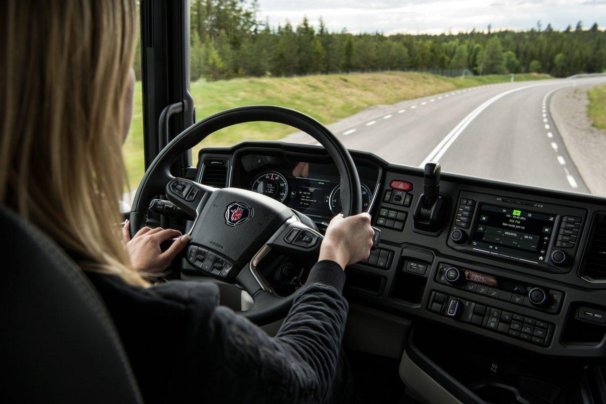 Scania truck driver