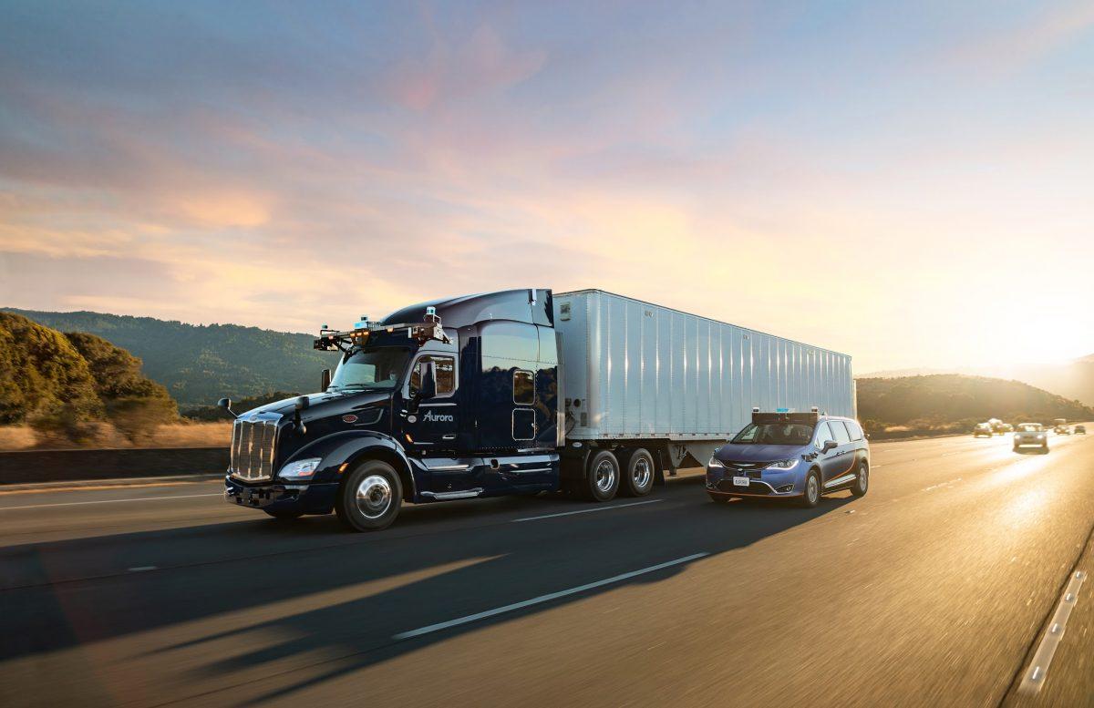 Aurora autonomous truck and autonomous car