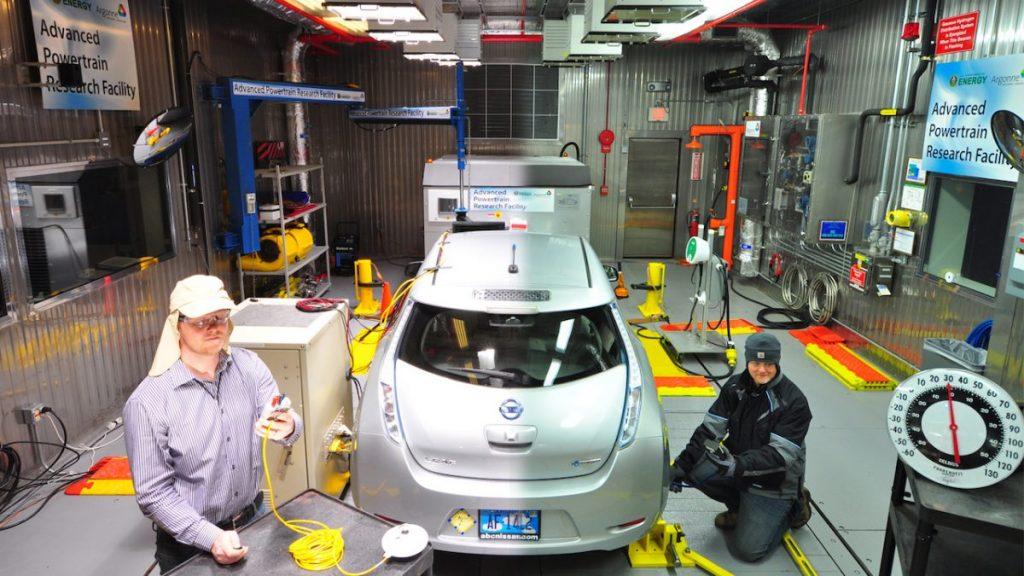 Argonne National Laboratory Nissan Leaf test EV